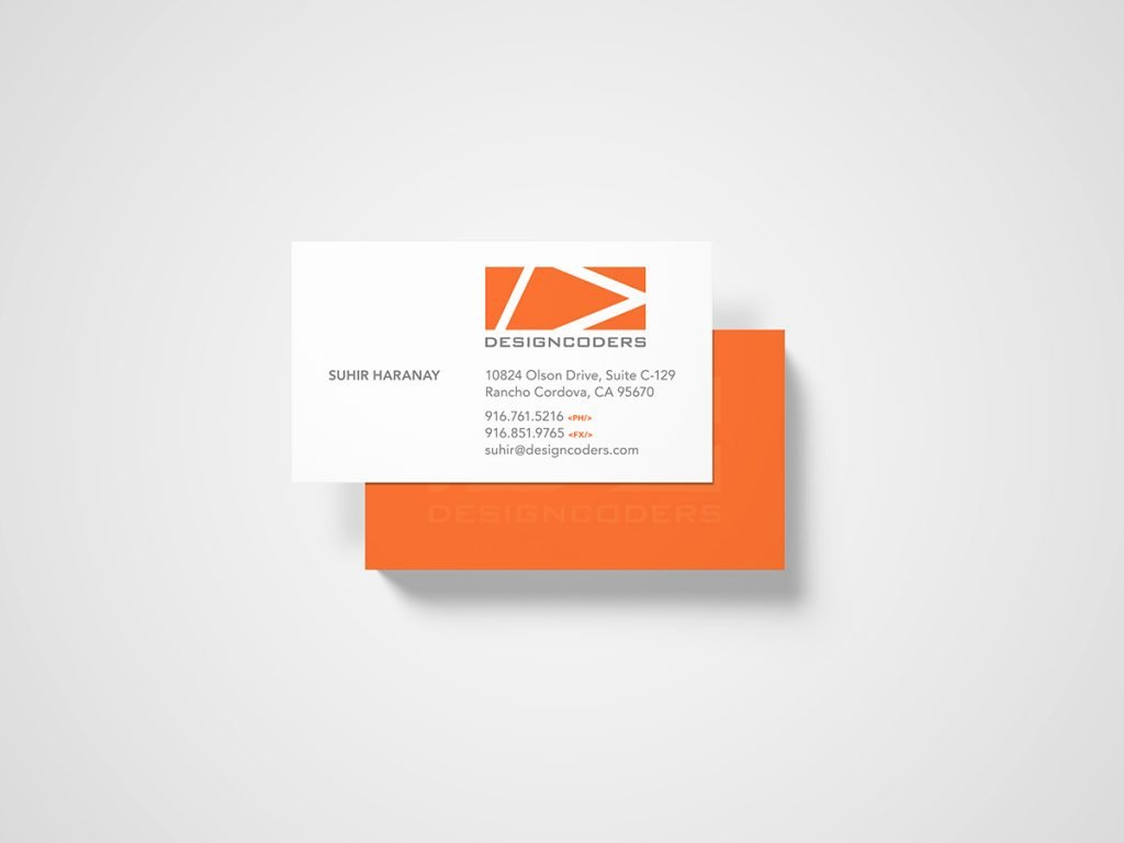 Designcoders business card