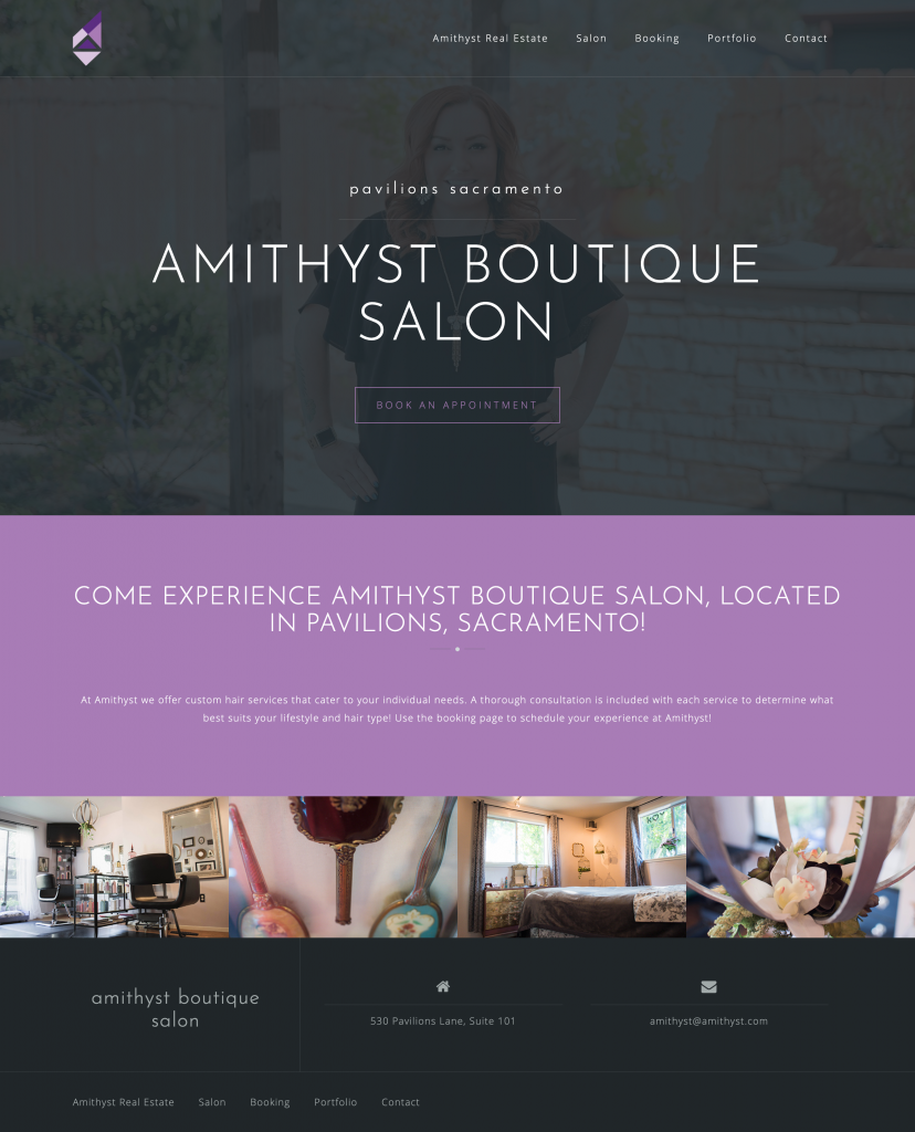 Amithyst Salon Website