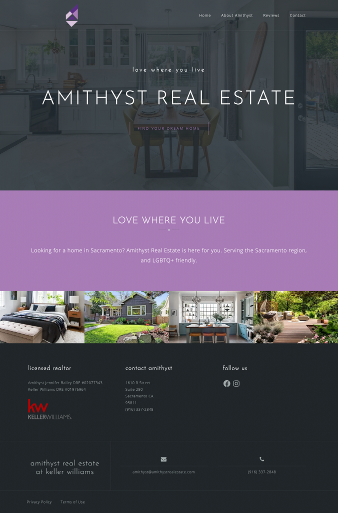 Amithyst Real Estate Website