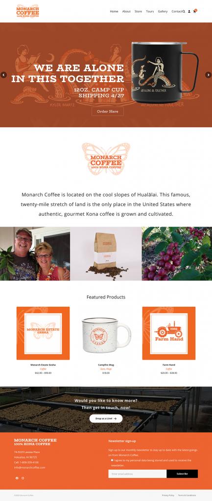 Monarch Coffee Website