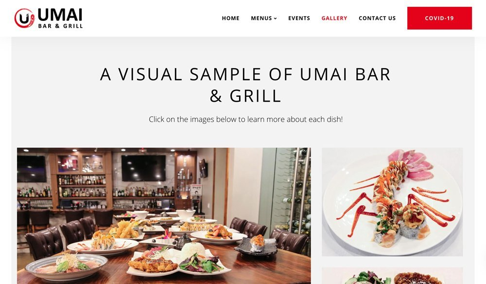 Umai Bar & Grill Website Gallery
