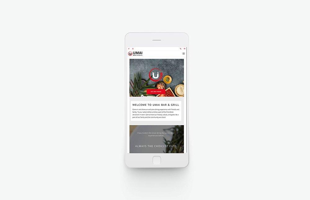 Umai Bar & Grill Mobile View
