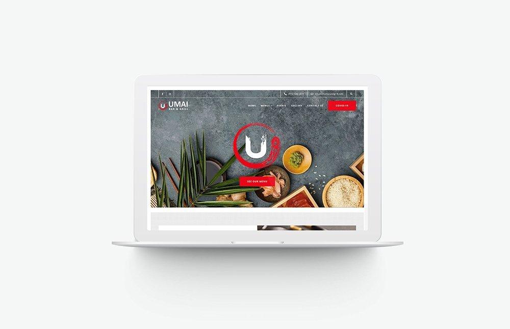 Umai Bar & Grill Desktop view