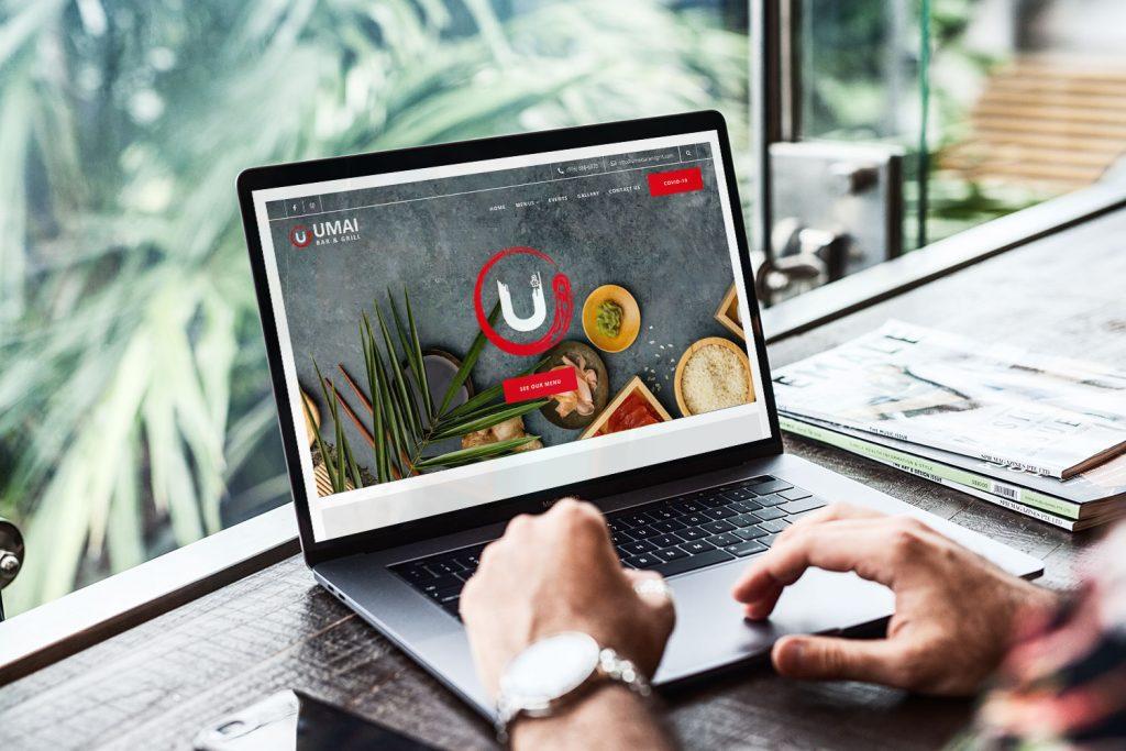 Umai Bar & Grill Website Mockup