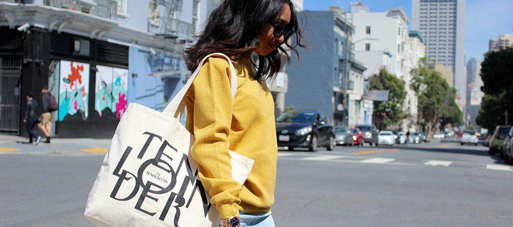 Tilted Brim Tenderloin New Yorker Inspired Handbag